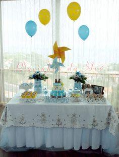 Docinhos da Avó - Cake and Party Design: Batizado ursinhos amorosos