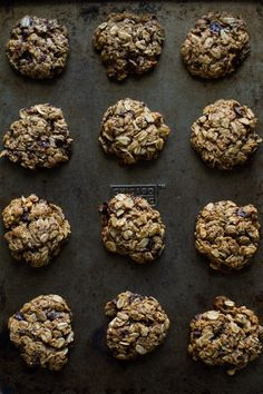Chewy Chocolate Chip Oatmeal Cookies | Edible Perspective