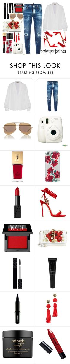 """""""Everyday - Ariana Grande"""" by tamaramanhardt ❤ liked on Polyvore featuring Emilio Pucci, Dsquared2, Christian Dior, Fujifilm, Yves Saint Laurent, Casetify, NARS Cosmetics, Make, Dolce&Gabbana and Gucci"""
