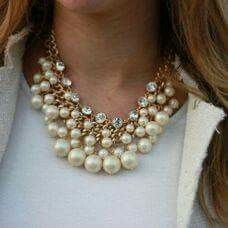 Pearl Necklace, Pearls, Jewelry, Fashion, I Found You, Necklaces, String Of Pearls, Moda, Jewlery