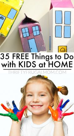 Check out this list of free things to do with kids at home! Creative ideas that can be done indoors without much prep work and few supplies. Perfect for rainy days and school breaks. Fun Activities For Kids, Infant Activities, Free Printable Puzzles, Bored Kids, Halloween And More, Woodworking Projects For Kids, Homemade Toys, Free Things To Do, Business For Kids