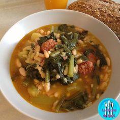 Potaje de judías con acelgas, un plato caliente y nutritivo para un día de frío.