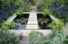 Browse pictures at HGTV of front and backyard landscaping ideas along with hardscape design including water features, pergolas, fire pits and more. Garden Pond, Water Garden, Shade Garden, Garden Landscaping, Landscaping Ideas, Hardscape Design, Design Jardin, London Garden, Water Pond