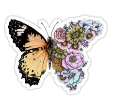 Blue Butterfly Discover Butterfly in Bloom II Sticker by ECMazur Stickers Cool, Tumblr Stickers, Printable Stickers, Laptop Stickers, Journal Stickers, Planner Stickers, Homemade Stickers, Snapchat Stickers, Butterfly Wallpaper