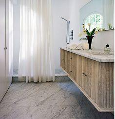 millwork of cabinet doors! Betsy Brown modern bathroom