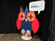 The beloved #Owl at SIC - Seattle Interactive Conference 2014! #graphics #custombuild #design