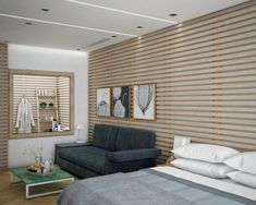 Proyecto de interiorismo en 3D, dormitorio principal con baño. Freelance 3D Madrid 02 alfonsoperezalvarez.com