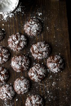 These Gluten-Free Dark Chocolate Crinkle Cookies are a rich, chocolatey treat. Perfect for the holidays!