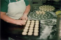 Making bread rolls at Adamson's Cake Kitchen, Invercargill NZ in the Bread Rolls, How To Make Bread, Family History, Bakery, Breakfast, Kitchen, Food, Morning Coffee, Cooking