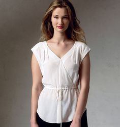 V1387 Misses' Top | Easy | Rebecca Taylor