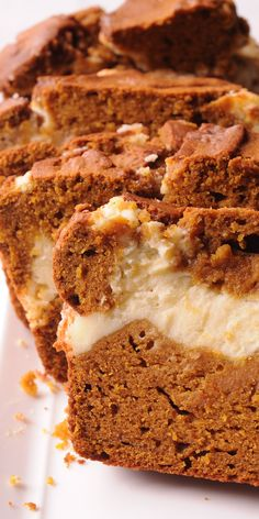 Quick Pumpkin Bread with Cream Cheese Filling is a combination of two desserts: pumpkin bread and cheesecake! The pumpkin bread is lightly sweet with a moist and rich cream cheese filling inside. Thanksgiving Desserts Easy, Quick Easy Desserts, Holiday Desserts, Holiday Baking, Thanksgiving 2020, Pumpkin Cream Cheese Bread, Cream Cheese Desserts, Pumpkin Bread, Sugar Pumpkin
