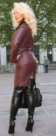Classy Outfits, Sexy Outfits, Pretty Outfits, Curvy Fashion, Womens Fashion, Fall Fashion, Fashion Trends, Leder Outfits, Latex Dress