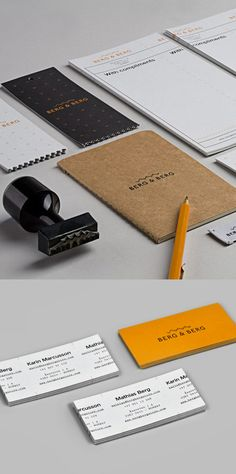 I love the design work on these, especially the business cards.