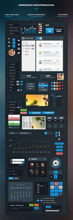 Aurora design style for Impressionist UI, Сайт © ВладимирКудинов