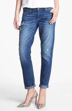 Paige Denim 'Skyline' Ankle Peg Jeans (Jessie Tear and Repair) available at #Nordstrom