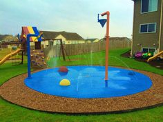Water play for your backyard! A spray park for your home is fun, safe and colorful!