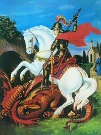 Oração das 7 chaves de São Jorge | Proteção Roi George, Saint George And The Dragon, Baroque Painting, Knights Templar, Sacred Art, Character Development, Black Art, Faeries, Illustration