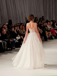 A-line/Princess Scoop Mouwloos Korte Mouw Floor-length Organza Prom Jurkjees