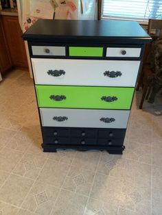 Refurbished Seahawks dresser