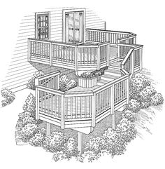 Deck Plans 382594930823973008 - Eplans Deck Plan – Two Levels Connected by Stairs from Eplans – House Plan Code Source by dhayotte