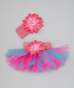 Love this Bride and Babies Hot Pink & Aqua Tutu & Headband Set - Infant, Toddler & Girls by Bride and Babies on Baby Couture, Little Miss, Infant Toddler, Toddler Girls, Tutu, Hot Pink, Kids Fashion, Aqua, Girly