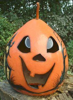Light up Jack O' Lantern Gourd