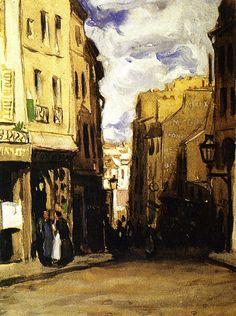 """Frederick C. Frieseke, """"Montparnasse Landscape (Hilltop Street),"""" ca. 1900."""
