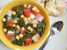 kale and chickpea soup $6.12 recipe/ $0.77 serving