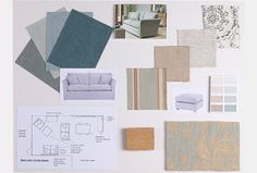 'Easy Living' Moodboard by Linda Chapman, Interior Design Consultant at Witney showroom #WesleyBarrell
