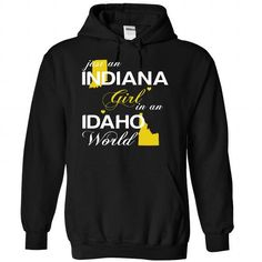 (INJustVang002) Just An Indiana Girl In A Idaho World - #tee design #hoodie drawing. LIMITED TIME PRICE => https://www.sunfrog.com/Valentines/-28INJustVang002-29-Just-An-Indiana-Girl-In-A-Idaho-World-Black-Hoodie.html?68278