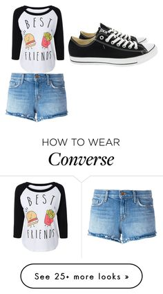 """""""bff"""" by katthebestcasiethedesigner on Polyvore featuring J Brand and Converse"""