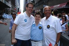 At the NYC #LGBT Pride Parade yesterday with Yetta Kurland & Bill Thompson. Gorgeous day for a great parade.