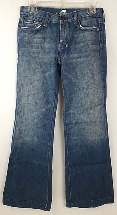 7 For All Mankind Dojo Flare Women's Jeans Size 26 #7ForAllMankind #FlareWideLeg