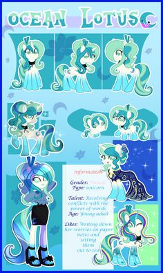 Ocean Lotus reference sheet by xWhiteDreamsx on DeviantArt