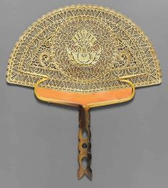 Rodeck Bros. Fan. Museum of Fine Arts, Boston - Indonesian fan made of buffalo horn and hide. 19th or early 20th century.