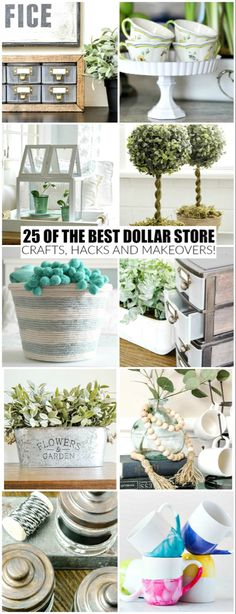 of the Best Dollar Store Crafts and Makeovers Ever The BEST Dollar Tree crafts, hacks and DIY projects to organize and decorate your home for less!The BEST Dollar Tree crafts, hacks and DIY projects to organize and decorate your home for less! Dollar Store Hacks, Dollar Stores, Thrift Stores, Dollar Dollar, Dollar Items, Pot Mason Diy, Mason Jar Crafts, Bottle Crafts, Diy Projects