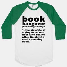 Book Hangover Definition | T-Shirts, Tank Tops, Sweatshirts and Hoodies | HUMAN