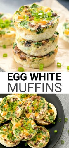 These muffins are an easy, healthy breakfast. They are less than 50 calories each and low carb. They can be prepared ahead of time for your weekly meal prep. prep for the week Egg White Muffins, Egg White Breakfast, Breakfast Quiche, Healthy Meal Prep, Healthy Breakfast Recipes, Healthy Eating, Healthy Breakfasts, Keto Meal, Healthy Egg Muffins