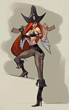 ArtStation - Miss fortune concept, Suke ∷ Video Game Characters, Girls Characters, Female Characters, Miss Fortune, Cyberpunk, Chasseur De Primes, League Of Legends Game, Female Hero, Design Poster