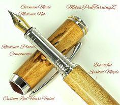 Wooden Fountain Pen this Custom Fountain Pen by MikesPenTurningZ, $139.00
