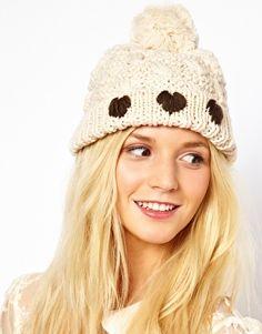 heart winter hat