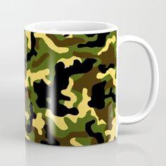 Camouflage YGK Coffee Mug by camouflagedextergornez Cold Drinks, Camouflage, Cool Stuff, Stuff To Buy, Coffee Mugs, Ceramics, Tableware, Art, Ceramica