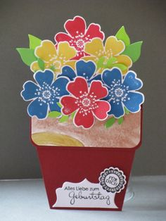 Blumentopfkarte, Pansy Punch, Bird Punch, Perfekte Pärchen, vielen Dank für die Anleitung! youtu.be/Fg2vdXDJO-M