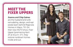 HGTV's newest stars are #Baylor alumni! #FixerUpper debuts April 24. || They had a preview episode last month and it's GREAT!