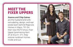 HGTV's newest stars are #Baylor alumni! #FixerUpper debuts April 24.