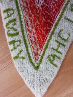 Annes indfald: Strik sjaler i mønsterstrik på rundpind
