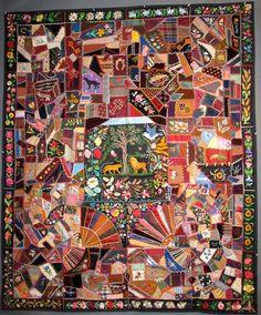 "Circa 1884 ""Extraordinary Crazy Quilt"" at Gemini Antiques of Lebanon, NJ. $9,500."