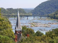 Harpers Ferry National Historical Park, West Virginia--a tourist destination that can be taken when visiting DC