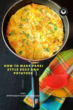 Papeta par Eeda | Parsi style Potatoes and eggs is a traditional easy to make recipe from Indian, Parsi cuisine of making eggs on the bed of sliced potatoes with onion, tomatoes and some basic spices. Healthy Egg Recipes, Best Breakfast Recipes, Healthy Appetizers, Brunch Recipes, Asian Recipes, Healthy Snacks, Vegetarian Recipes, Delicious Recipes, Wheat Free Bread