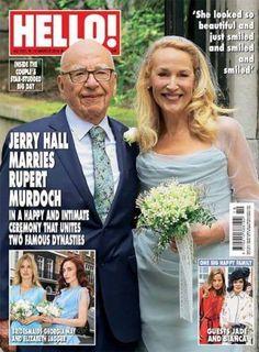 Hello magazine Rupert Murdoch Jerry Hall wedding Exclusive photos Bianca Jagger